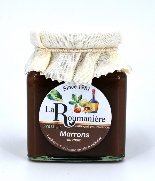 confiture marrons au rhum